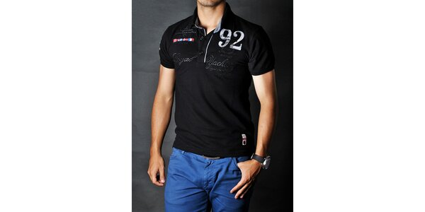 Pánské černé polo tričko Pontto