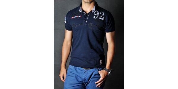 Pánské temné modré polo tričko Pontto