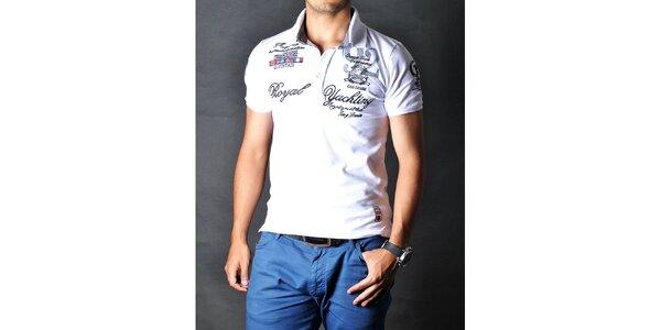 Pánské bílé polo tričko Pontto