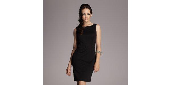 Dámské černé pouzdrové šaty bez rukávů Figl