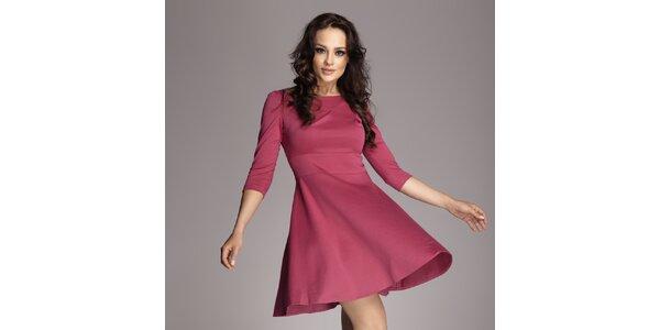 Dámské fuchsiové šaty s kolovou sukní Figl