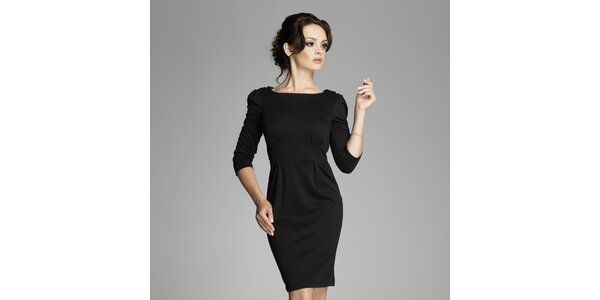 Dámské černé šaty s překříženými zády Figl