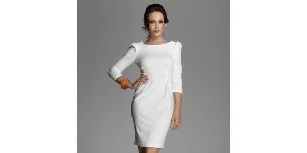 Dámské krémově bílé šaty s překříženými zády Figl