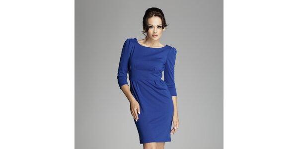 Dámské modré šaty s překříženými zády Figl