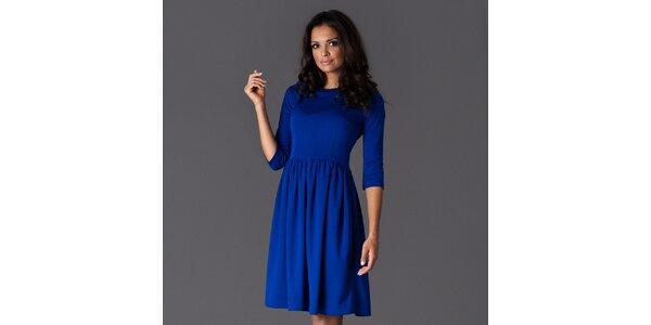 Dámské modré šaty ke kolenům Figl