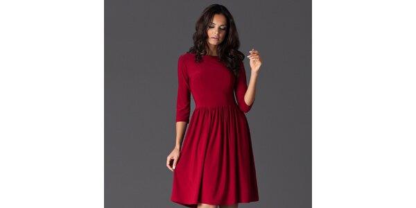 Dámské červené šaty ke kolenům Figl