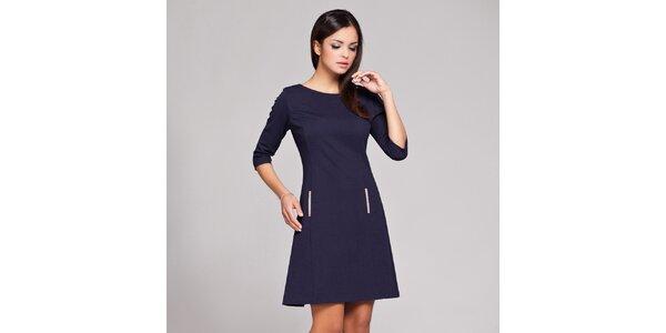 Dámské tmavě modré retro šaty Figl