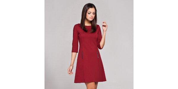 Dámské tmavě červené retro šaty Figl