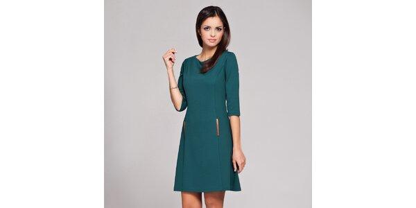 Dámské tmavě zelené retro šaty Figl