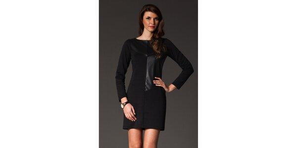 Dámské černé šaty s lesklou aplikací Figl