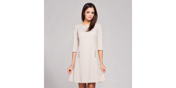Dámské sněhobílé retro šaty Figl