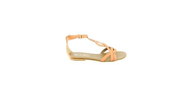 Dámské meruňkové sandálky Eye