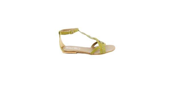 Dámské sandálky v barvě kiwi Eye