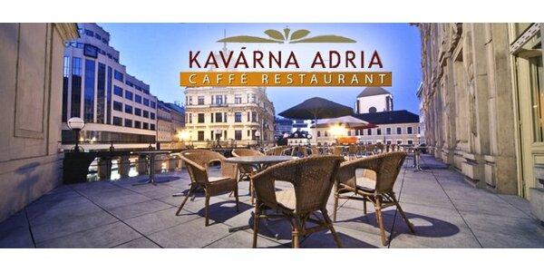 149 Kč za cokoli z nabídky caffé restaurantu Adria v hodnotě 300 Kč.
