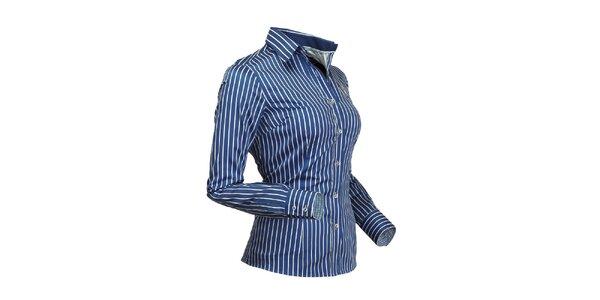 Dámská nebesky modrá košile s proužkem Pontto