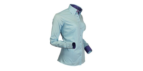 Sportovní světle modrá košile Pontto