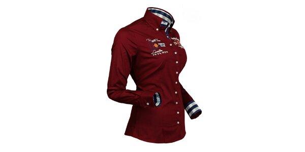 Sportovní vínová košile Pontto