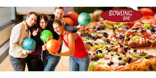 2 hod. bowlingu, pizza a 2 nápoje