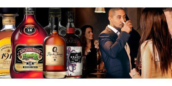 Degustace 6 druhů rumů v Music Clubu Anděl