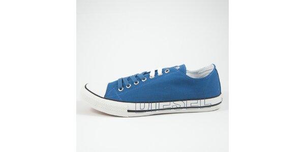 Pánské modré tenisky s bílým detailem Diesel