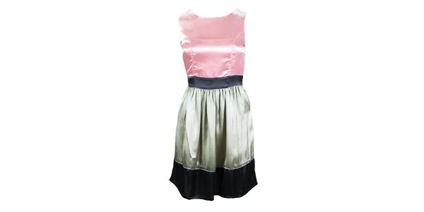 Dámské růžovo-šedé šaty bez rukávů Tantra