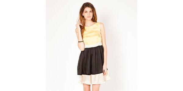 Dámské žluto-černé šaty bez rukávů Tantra