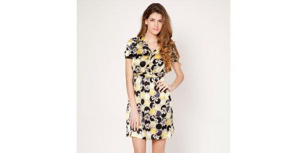 Dámské žluté šaty s límečkem Tantra