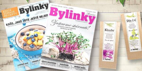 Roční předplatné časopisu Bylinky revue s čajem