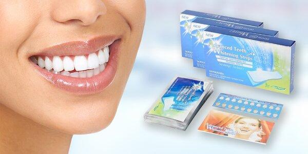 Revoluční gelové bělící pásky na zuby
