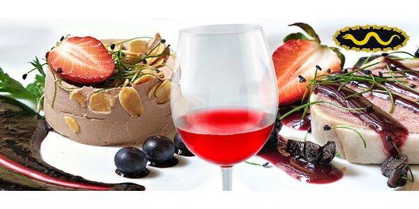 Úžasné luxusní 5chodové menu s vínem pro 2 osoby