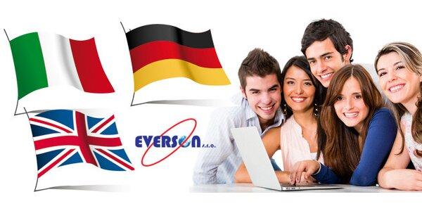 Intenzivní kurz angličtiny, němčiny nebo italštiny