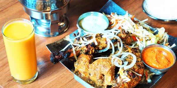 Pestrá indická večeře pro dvě osoby