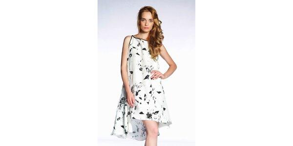 Dámské černobílé šaty s potiskem Gene