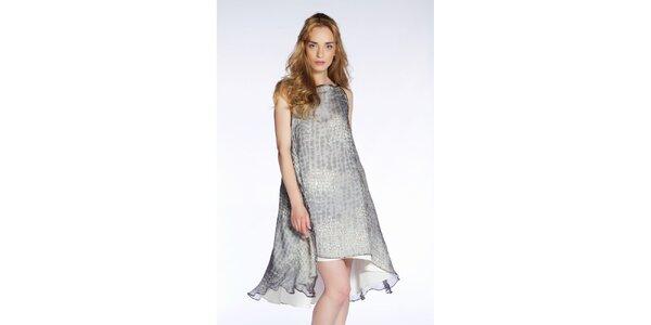 Dámské šedé vzdušné šaty s potiskem Gene