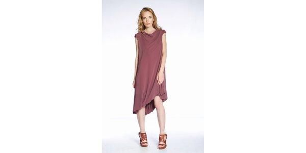 Dámské starorůžové šaty s páskem Gene