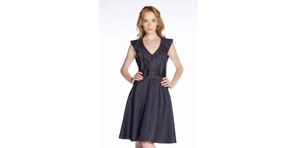 Dámské černé hedvábné šaty Gene