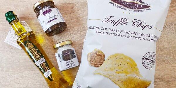 Lanýžové speciality: lanýžová pasta, olej i sůl