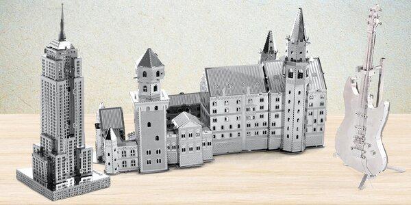 Kovové 3D puzzle: slavné stavby a další motivy