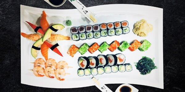 51 ks čerstvého a expresně připraveného sushi