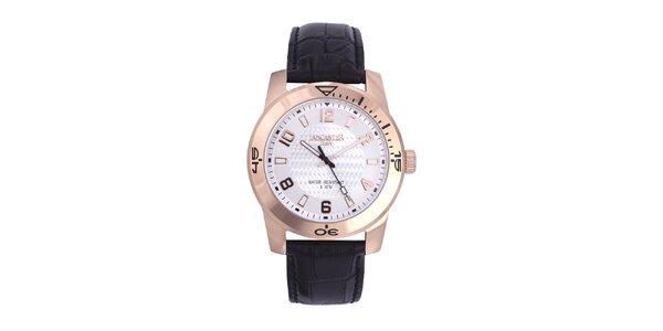 Pánské černo-zlaté analogové hodinky Lancaster