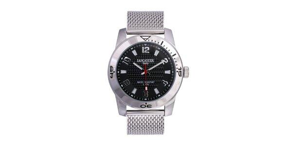 Pánské stříbrné analogové hodinky z ušlechtilé nerez oceli Lancaster