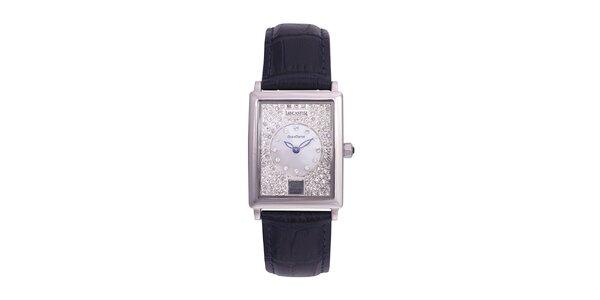 Dámské tmavě modré analogové hodinky s krystaly Swarovski Lancaster