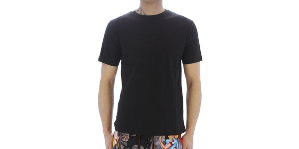 Pánské černé bavlněné tričko Southpole