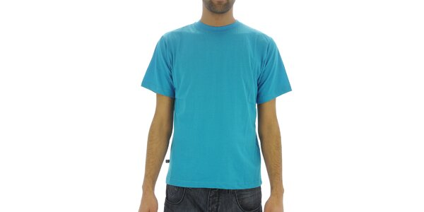 Pánské azurově modré bavlněné tričko Southpole