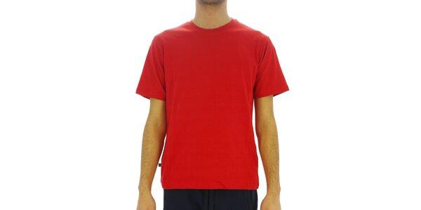 Pánské sytě červené bavlněné tričko Southpole