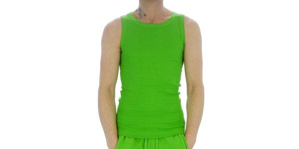 Pánské neonově zelené bavlněné tričko Southpole