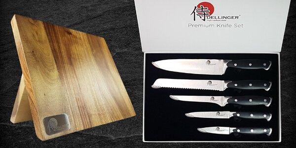 Brousky nebo sada 5 nožů japonské kvality se stojanem