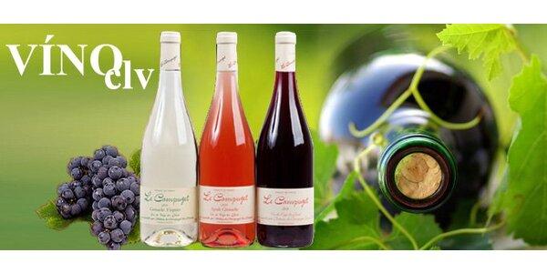 295 Kč za set TŘÍ vynikajících francouzských vín – LE CAMPUGET 2010!