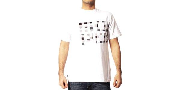 Pánské bílé tričko Southpole s kostkami