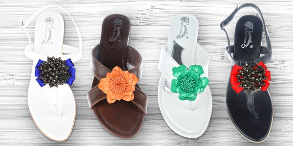 Letní boty s vyměnitelnými ozdobami
